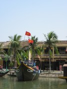 Vietnamese boat on the river