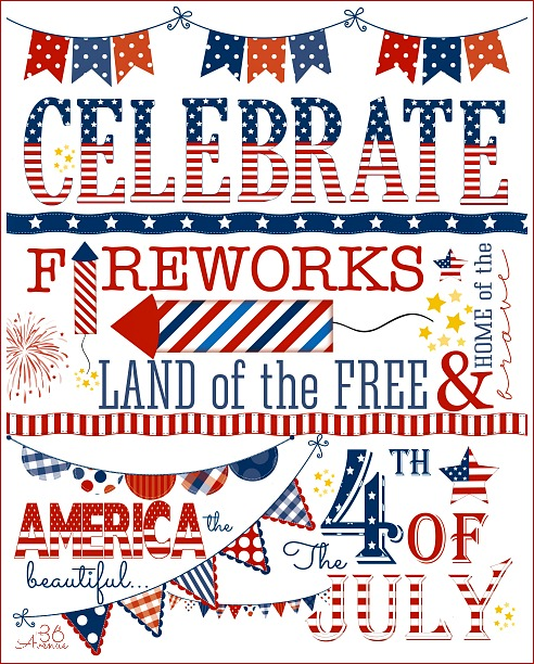 Celebrate America July 4th Holiday