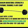 We W.I.L.L. Thru Sports Summer Camp August 2021