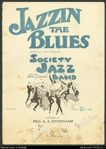 "Stoneham, Reginald A.A. ""Jazzin' The Blues."" Photo. Digital Collections Music.1920-1929. 2 July 2013. ."