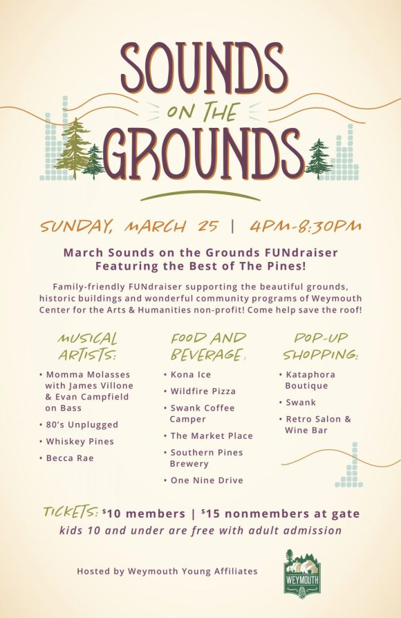 Sounds on the Grounds poster for March
