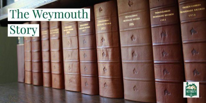 ledger books on shelf at James Boyd House