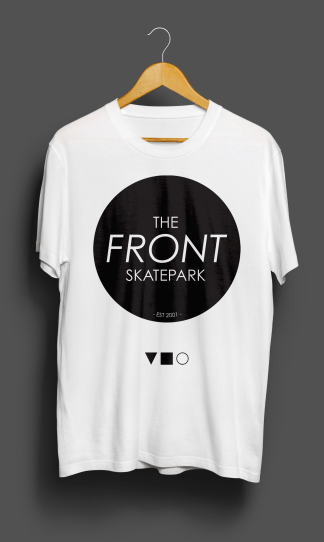 The Front T-Shirt White Solid Front