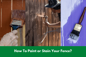 How To Paint or Stain Your Fence