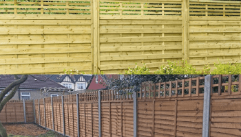 Build your own fence next to the neighbours
