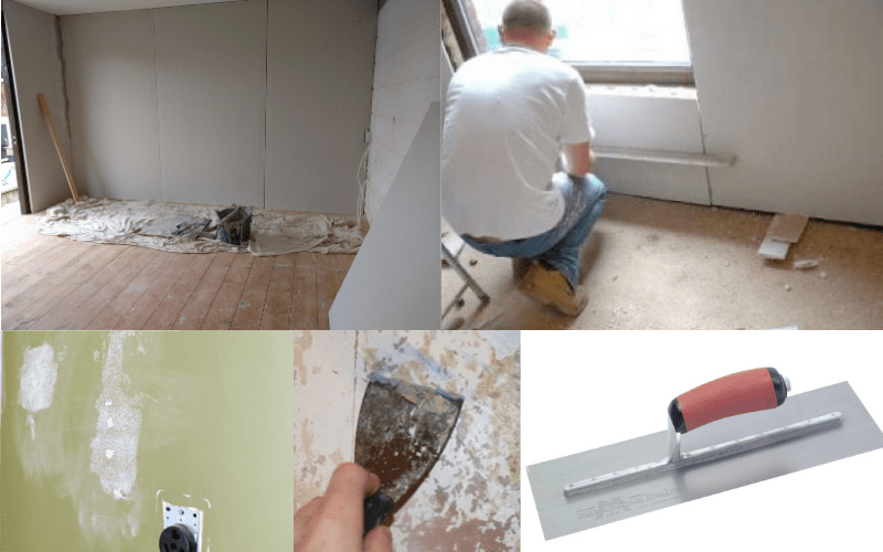 Examples of smoothing walls without plastering