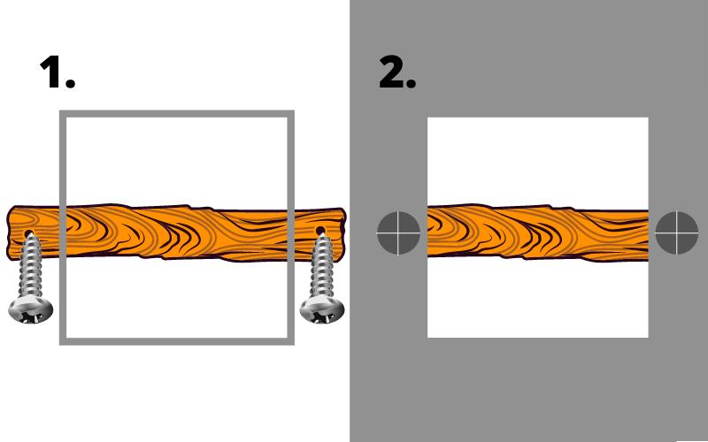 Step 1 to repairing plasterboard