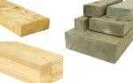 Types of pressurised treated timbers