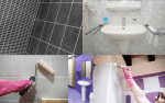 Examples of painting your bothroom tiles