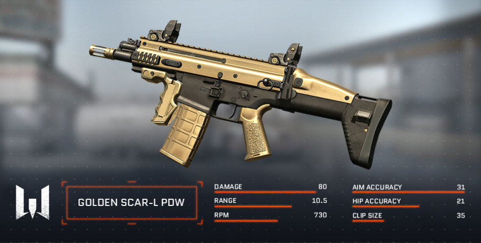 Direct Sale Of Golden SCAR L PDW WARFACE