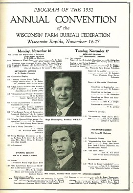 Today's Centennial story brings us back to the 1931 Annual Convention that was held in Wisconsin Rapids.