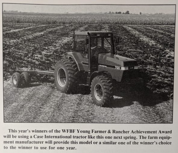 Here's a fun look back from a 1990 issue of the Ag Venture magazine (WFBF's communication piece prior to Rural Route)