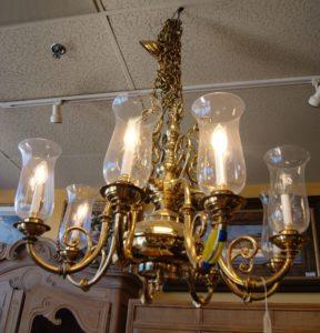 Solid Brass Globe Chandelier Westside Furniture