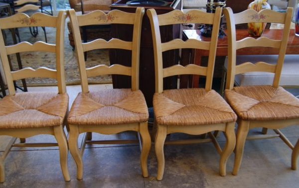 4-French Style Ladder Back Chairs Prices Vary