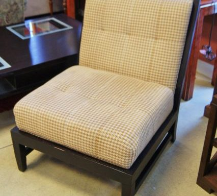 Armless Tufted Button Side Chair