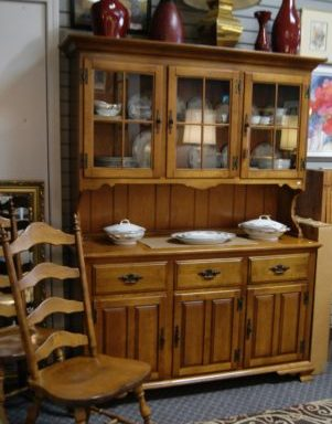 China Hutch and Dining Room Set Priced Separate