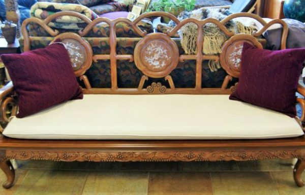 Formal Rosewood Sofa-Arm Chairs and Side Table Set