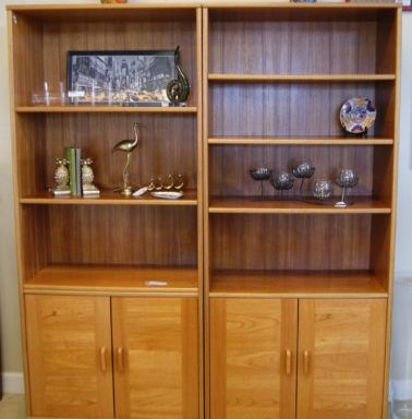 2 Teak Bookshelves Priced Separate