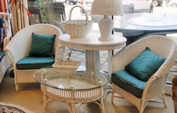 Vintage Wicker Tables Priced Separate