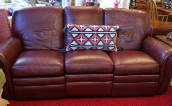 Reclining Leather Sofa Couch