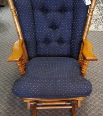 Wing Back Glider Rocking Chair