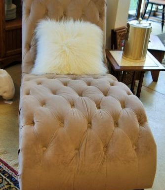 Tufted Button Chaise Lounge Chair