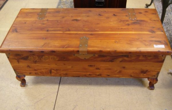 Vintage Footed Cedar Chest