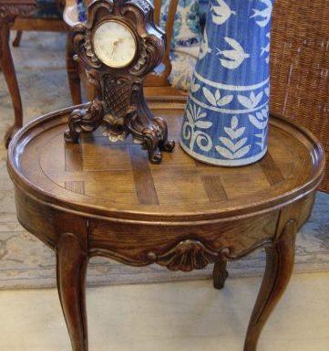 Vintage Oval Side Table