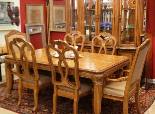 8 Piece Table And Chairs With Matching China Cabinet Priced Separate