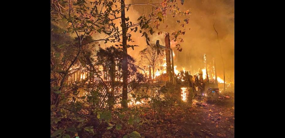 Northern Spy Drive Linden Va fire October 23 2020