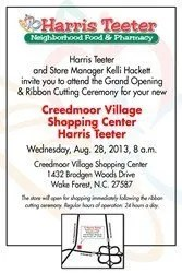 Grand Opening of Harris Teeter in Wake Forest, N.C.