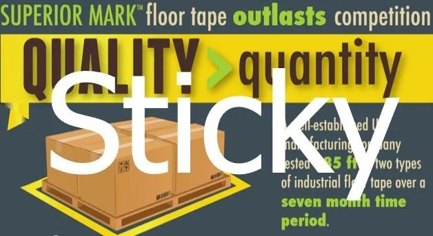 Superior Mark Floor Tape Puts Wake Forest Company in a Really Sticky Situation