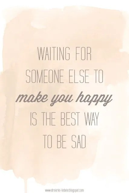 Waiting to be Happy