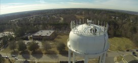 Wake Forest Tower Flyby for Faster Internet