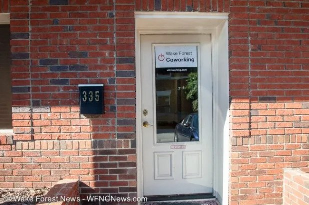 The Wake Forest Coworking door. What kind of exciting pictures did you want?