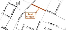 Traffic Alert – East Juniper Avenue Road Closure
