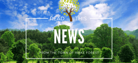 "Wake Forest Power named 2018 ""Tree Line USA"""