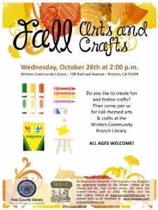 Fall Arts and Crafts at the Winters Community Library