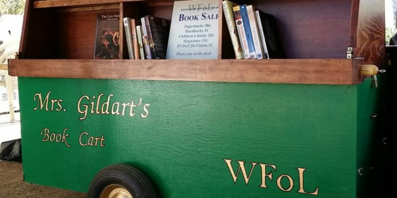 Mr.s Gildart's Book Cart for Winters Friends of the Library