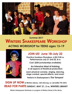 Sign Up Now for Teen Actors Workshop- 2017!