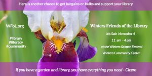 WFoL Iris Sale Returns Saturday Nov. 4, at Winters Salmon Festival