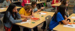 Winters High School teens participating in Community Writes workshop