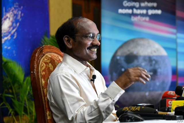 FILE - Indian space scientist and Chairman of the Indian Space Research Organization Kailasavadivoo Sivan speaks during a press conference at the ISRO headquarters Antariksh Bhavan, in Bangalore, June 12, 2019.