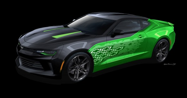 Camaro Krypton concept – That luminescent quality was the inspiration behind the Camaro Krypton concept's bold, bright exterior color. The fluorescent green primary color is officially called Krypton Green.