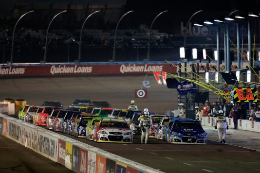 during the NASCAR Sprint Cup Series Quicken Loans Race for Heroes 500 at Phoenix International Raceway on November 15, 2015 in Avondale, Arizona.