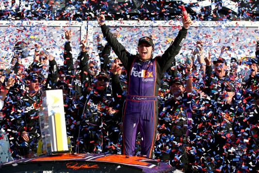 during the NASCAR Sprint Cup Series DAYTONA 500 at Daytona International Speedway on February 21, 2016 in Daytona Beach, Florida.
