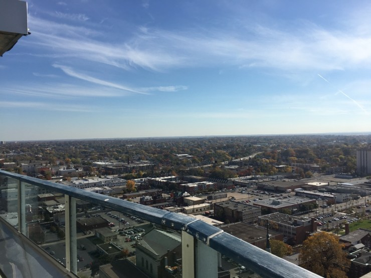 The view from 800 Tower City Apartments