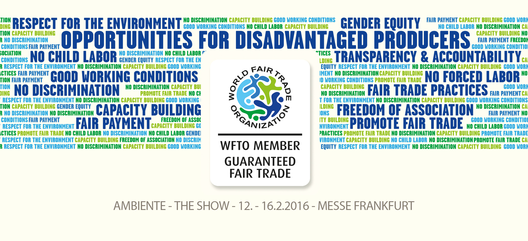 PRESS RELEASE: WFTO global product label launch at Ambiente in