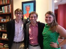 Exec board members William Booth and Parker Fritz, and our local elections liaison Caroline Smith.