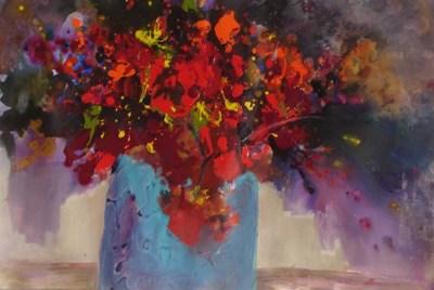 """Heartfelt"" Deloris Griffith, watercolor and mixed media, 15""x22"""